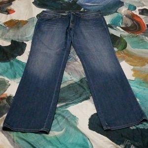 New York & Company Mid Rise Straight Leg Jeans